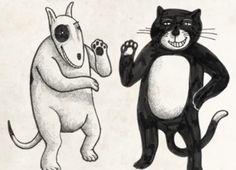 Cómo perros y gatoses un cortometraje animado del músico y escritorArmando Vega Gil, integrante de la banda de rock mexicanaBotellita de Jerez.El corto funciona como una parábola y alegoría del comportamiento salvaje de los humanos ante ciertas situaciones.