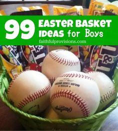 Easter Basket Ideas for Boys
