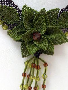 crochet necklacegreen chokervintage style by needlecrochet on Etsy