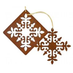 Christmas Laser Cut Wood Ornament / 2 pc set - Puakenikeni
