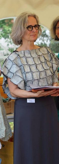 image only, but great use of 'cracked mud' technique: Fibre And Fabric, Art Textile, Textiles, Felt Fabric, Nuno Felting, Handmade Felt, African Fashion, African Style, Felt Art