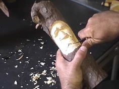 How to carve a wood spirit 6