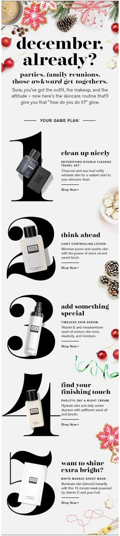 Erno Laszlo winter email. December, Already?