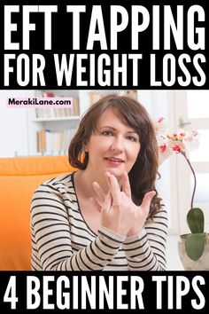 EFT Tapping for Weight Loss | If you're looking for EFT tapping tips for beginners to help reduce stress and anxiety, and to help you lose weight, this post is a great starting point. What is EFT tapping? What are the benefits of EFT tapping? Does EFT tapping help people lose weight? - We/re sharing 4 beginner tips and a step by step EFT tutorial to help you get started. Forget the weight loss plans and diets and give this a try! What Is Eft Tapping, The Tapping Solution, Emotional Stress, Stress And Anxiety, Exposure Therapy, Lose Weight, Weight Loss, Acupressure Points, Cognitive Behavioral Therapy