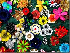 Vintage Flower Brooches
