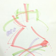 가이의 몸짓, 움직임 _마카 [형상적이기도 추상적이기도한/패턴적/아날로그느낌+디지털적요소/선적구성+면적구성/설명적/단순표현]