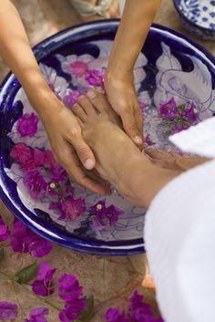 Lovely reflexology massage idea.