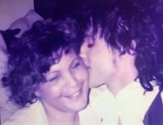 Prince and his Mom Mattie. I love this photo.