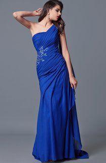9c08c8a85af4a A-Line Long V-Neck Sleeveless Chiffon Court Train Waist Jewellery Dress -  Junebridals