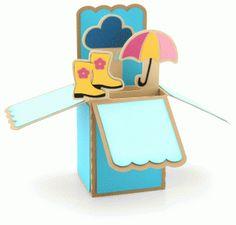 Silhouette Design Store - View Design #60674: rainy day box card