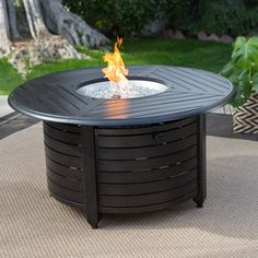 Red Ember Stapleton 47 in. Round Fire Pit Table   from hayneedle.com