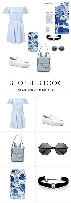 """Untitled #69"" by andreearoxana-21 ❤ liked on Polyvore featuring Miss Selfridge, Chloé and Kenneth Jay Lane"