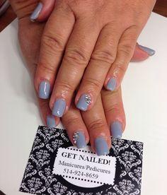 Summer Nails with Diamond Nail Art.