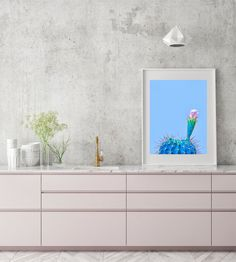 Cactus Print Mexican Decor Printable Art Blue Cactus Print | Etsy Cactus Wall Art, Cactus Print, Cactus Plants For Sale, Cactus Balloon, Painted Rock Cactus, Small Christmas Stockings, Trendy Home Decor, Flower Sketches, Collage Design