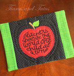 Mug Rug, Snack Mat, Coaster, Teacher Mug Rug, Teacher Gift, Mug Rug for…