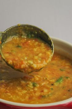 Dal Fry, Dal Recipe, Indian Food Recipes, Ethnic Recipes, Rich In Protein, Garlic Recipes, Healthy Dishes, Coriander, Onion