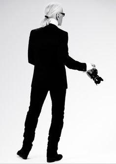 Autoportrait de Karl Lagerfeld © photo Karl Lagerfeld