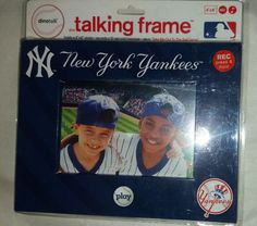 NEW YORK YANKEES TALKING PICTURE FRAME NEW  STILL IN PACKAGING AUTHENTIC MLB #NewYorkYankees