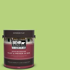 BEHR Premium Plus Ultra 1-gal. #420B-4 Tart Apple Flat Exterior Paint