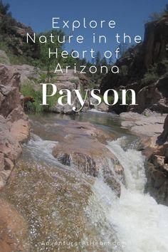 Payson Arizona, Payson Az, Arizona Road Trip, Arizona Travel, Vacation Trips, Vacations, Arizona National Parks, Dream Trips, Beautiful Waterfalls