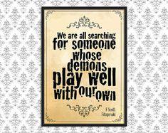 Gothic Art Print Poster  Demons by F Scott by BlackSailsUK on Etsy