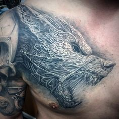50 Awesome 3D Chest Tattoo Designs - Gravetics