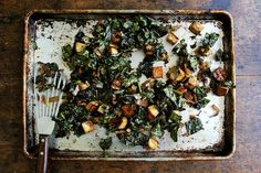 Baked Tofu with Coconut Kale recipe on Food52