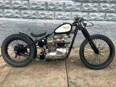 To build my own triumph one day:) Triumph Bobber, Bobber Bikes, Harley Bobber, Bobber Motorcycle, Bobber Chopper, Cool Motorcycles, Motorcycle Design, Triumph Motorcycles, Vintage Motorcycles
