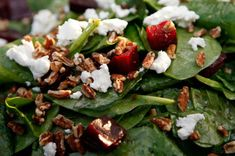 Candied walnuts are the stars of this easy spinach salad. The sweetness from the nuts pairs really well with fruits like apples, pears, and dried cran...