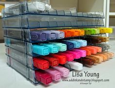 Blendabilities stored in this fabulous Crafters Companion Ultimate Marker Storage. Can be stacked vertically or horizontally