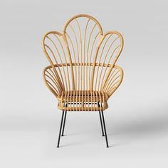 Home Decor 28 Target Home Decor Items You Need In Your Life (and on your Wedding Registry!) - Avocet Rattan Fan Back Accent Chair - Opalhouse™ Rattan Bar, Rattan Chairs, Dining Chairs, Chair Cushions, Rattan Furniture, Metal Furniture, Rattan Armchair, Chair Bench, Bar Chairs