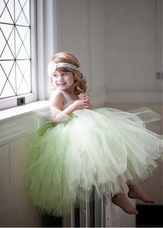 Angelic Tiered Tulle Ball Gown Square Neckline Flower Girl Dresses with Bow Sash