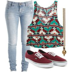 I absolutely love this outfit for back to school! But it would be better if the tank wasn't cropped