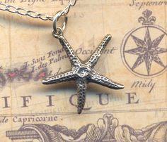 Sterling Silver Sea Star Necklace, Sea Star Pendant, Sterling Silver Jewelry, Handmade Jewelry by AnnaArt72. $48.00, via Etsy.