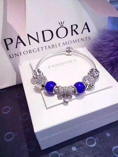 50% OFF!!! $199 Pandora Charm Bracelet Blue. Hot Sale!!! SKU: CB01964 - PANDORA Bracelet Ideas