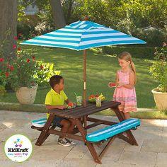 Oakland Raiders Folding Picnic Table W/ Umbrella | Folding Picnic Table And Picnic  Tables