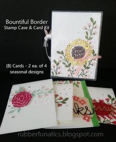 Stampin' Up! CLASS TO GO - Bountiful Border Stamp Case & Card Kit by Melissa Davies @rubberfunatics #rubberfunatics #stampinup