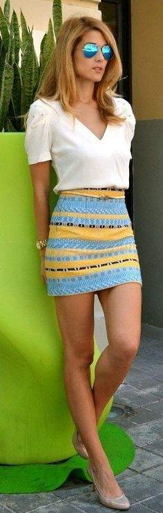 15 Spring & Summer Fashion Trends for Women 2017  - Do you want to add new pieces to your wardrobe for the upcoming seasons? Do you want to discover more about the latest fashion trends that are present... -  Miniskirts to look catchier and show the beauty of your legs .