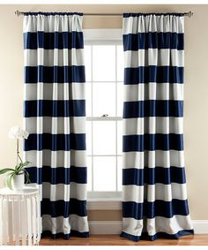 Lush Decor Stripe Blackout Window Curtain, 84 by Navy Stripe blackout window panels keeps the room dark by blocking sunlight. Because of the blackout Room Darkening Curtains, Blackout Curtains, Drapes Curtains, Bedroom Curtains, Asian Curtains, Blackout Panels, Modern Curtains, Kitchen Curtains, Shower Curtains