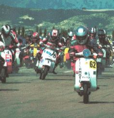 A 24H Vespa endurance race in Spain