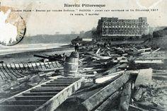 Bayonne, Anglet, Biarritz Autrefois: Les naufrages à Biarritz Old Vintage Cars, Saint Martin, Abandoned Buildings, Big Ben, Travel, Basque Country, Antique Pictures, Cards, Viajes