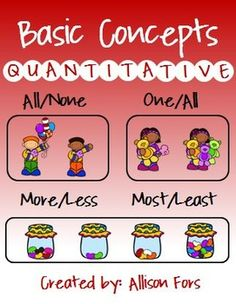 Printable, ready to use worksheets targeting quantitative concepts!