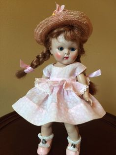 Vintage Vogue Strung Ginny Doll, 1952 Glad, Very Sweet! #DollswithClothingAccessories
