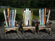 Adirondack chairs w/ old skis