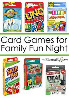 Family Fun Night - These are awesome card games for family game night that are easy to play for everyone! Family Fun Night - These are awesome card games for family game night that are easy to play for everyone! Games For Fun, Card Games For Kids, Games For Teens, Dice Games, Best Card Games, Best Family Board Games, Family Games, Family Family, Kids Board Games