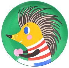 Helen Dardik Hedgehog melamine plate
