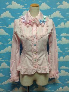 Sugar Hearts Blouse in Pink from Angelic Pretty - Lolita Desu