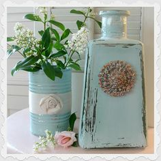 Tin Can & Tequila Bottle Repurpose :: Hometalk