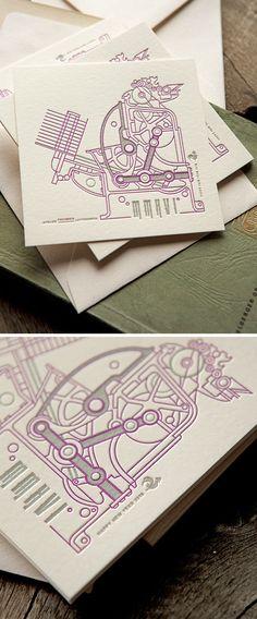 Carte De Voeux Cocorico Letterpress Avec Notre Presse Heidelberg Lhonneur Windmill For Our 2016 New Year Card