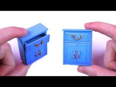 DIY Miniature Dollhouse Cabinet - How to Make Miniature Dollhouse Things - YouTube